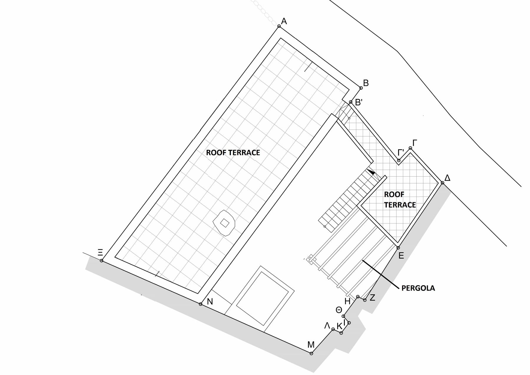 Plan roofterrace